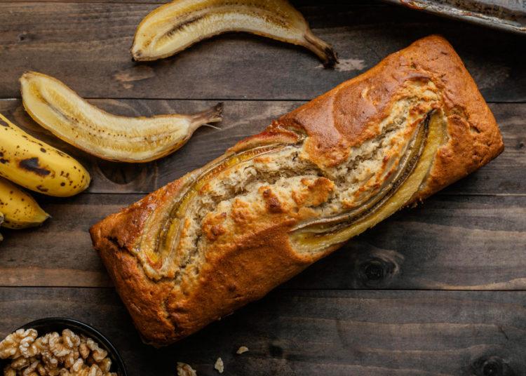 Budín de banana y avena