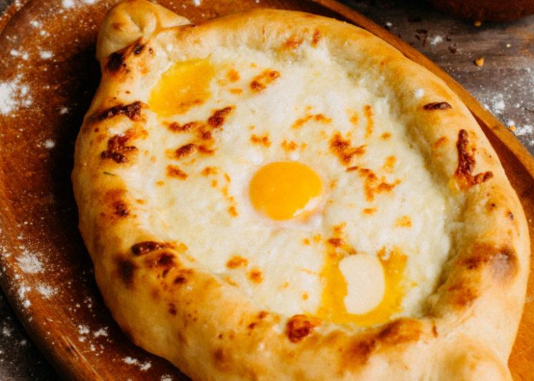 Pan relleno de queso y jamón
