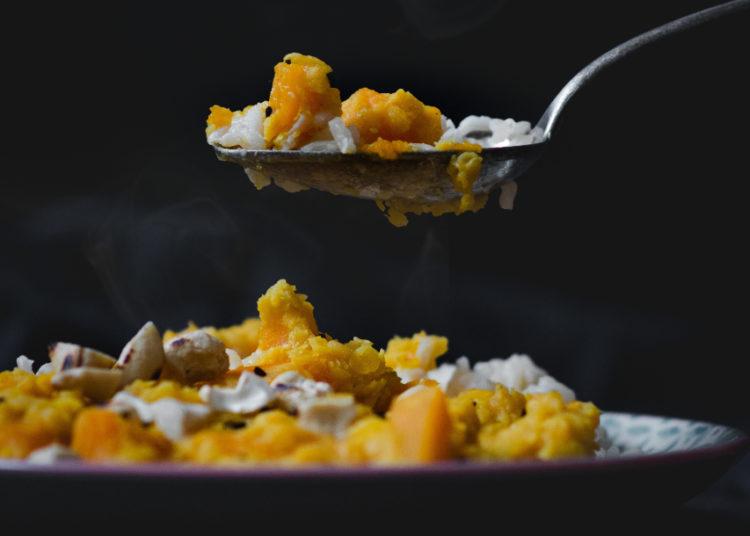 Pollo a la naranja con arroz