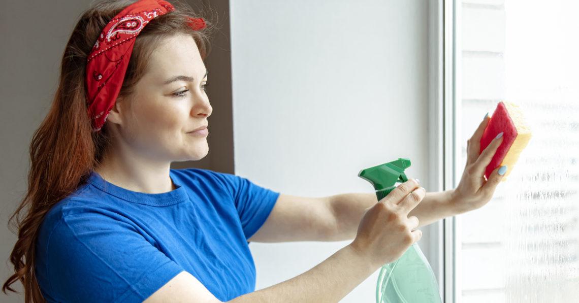 Desinfectar los cristales semanalmente