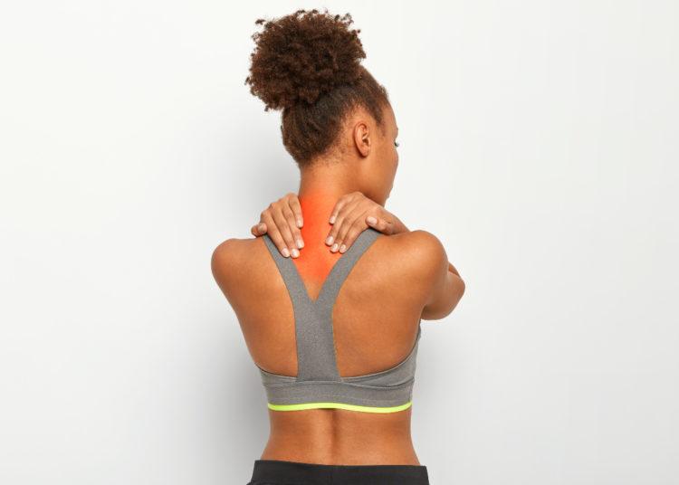 Zona afectada con dolor de cuello y hombros