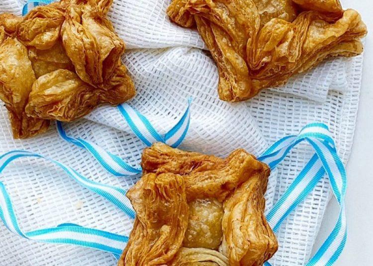Pastelitos de hojaldre preparados por la chef pastelera Estefanía Colombo