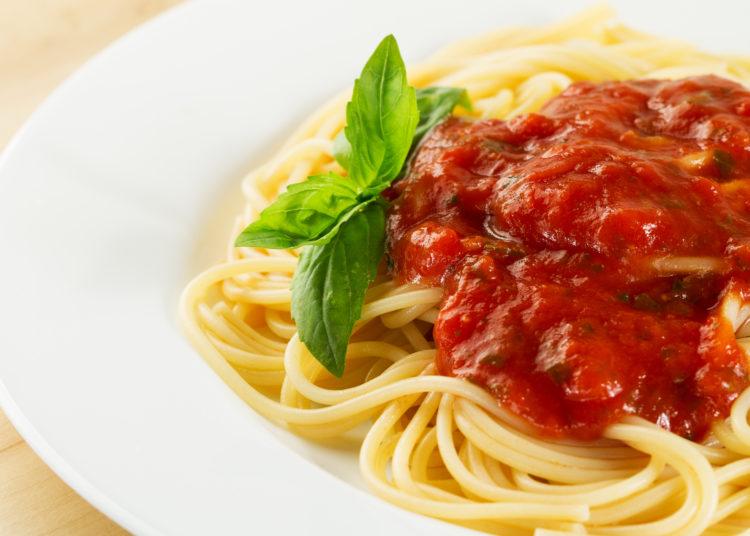 Pasta con salsa boloñesa