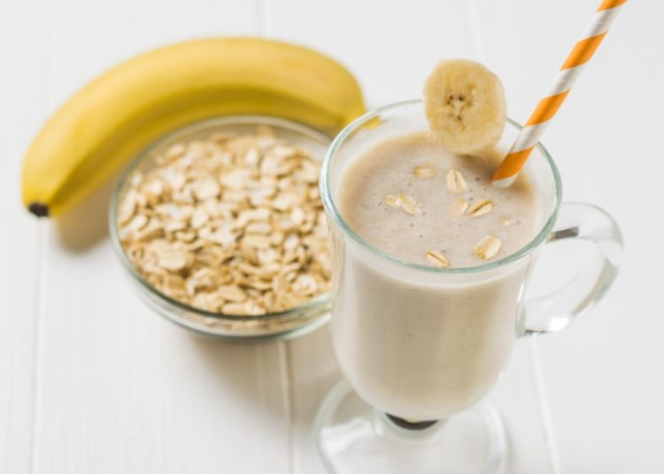 Batido con banana y cereales