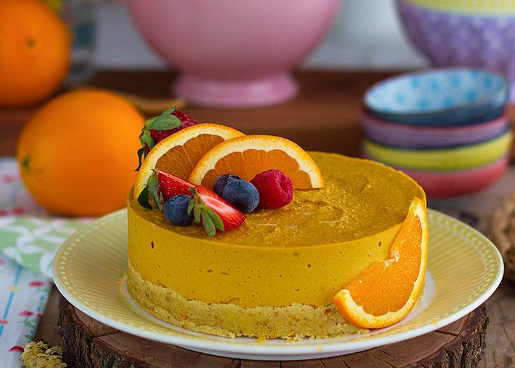 Imponente tarta de naranja helada y saludable: solo debes mezclar y refrigerar