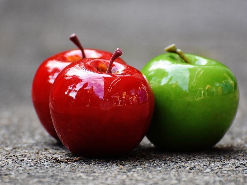 ¿Cuál es la opción más saludable: manzana roja o verde?